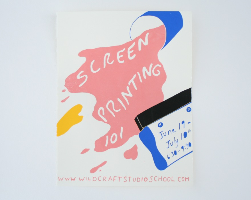 screenprinting poster WC