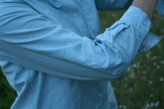 chel v blue shirt